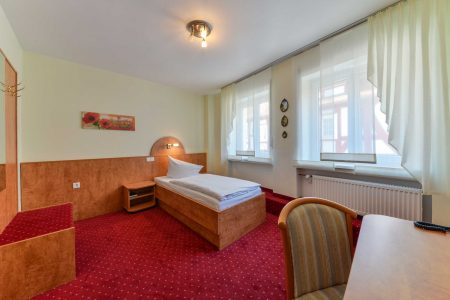 Hotel Hessischer Hof Kirchhain - Einzelzimmer Bett