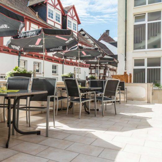 Hotel Hessischer Hof Kirchhain - Terrasse
